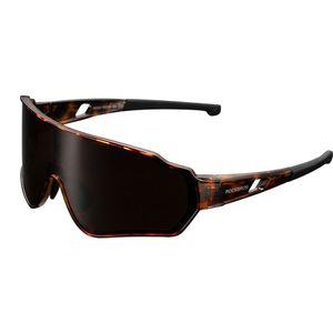 ROCKBROS Polarisiert Sonnenbrille Fahrradbrille Radbrille UV400 Schwarz Orange
