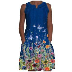 2021 Summer New Damen A-Line Mittellanges Kleid Positionierungsdruckkleid Größe:L,Farbe:Grün