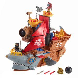 Imaginext Piraten, Hai-Maul Piraten-Schiff Spielset, Kinder-Spielzeug, Action-Figur