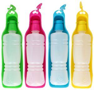 Pet Treatment Trinkflasche Hund - mit Wassernapf - für Unterwegs - 450ml - 4 Farben Sortiert