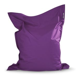 Green Bean © SQUARE XXL Riesensitzsack 140x180 cm - Indoor & Outdoor Sitzsack - Bean Bag Chair für Kinder & Erwachsene - Lila