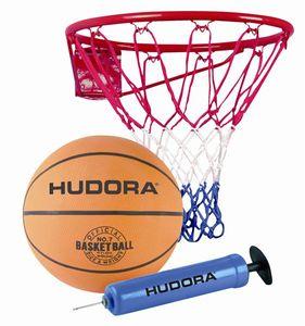 Hudora Basketball Set Slam it 3-teilig mit Korb und Pumpe