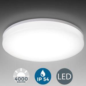 Deckenlampe LED 24W Bad-Lampen IP54 Badezimmer-Leuchte Deckenleuchte Küche Flur B.K.Licht