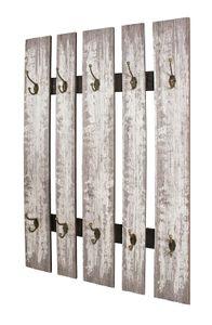 Haku Wandgarderobe grau - Maße: 65 cm x 9 cm x 100 cm; 32950