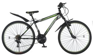 26 Zoll Kinder Herren Jugend Jungen Damen Mädchen Fahrrad Mountainbike Kinderfahrrad MTB Rad Bike Gabelfederung Federgabel 21 Gang Shimano TIGER Schwarz Grün