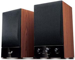 Genius SP-HF1250B II 2.0 Holzkistenlautsprecher braun-schwarz