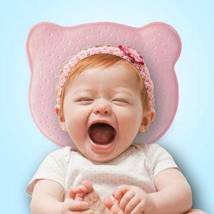 Boomersun Orthopädisches Babykissen gegen Kopfverformung Plattkopf BabySoft Pillow Baumwollstoffe aus Samt Baby Soft Pillow Geschenk Rosa