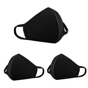 BISHOP 3 Stück Schwammmaske , Fashion Unisex Face Masks, Staub Gesichtsmaske, wiederverwendbare und waschbare Maske zum Laufen, Radfahren, Outdoor-Aktivitäten Skifahren, (schwarz)