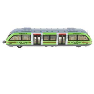 Ziehenzurück S-Bahn Fahrzeug Modell mit Licht & Musik Spielzeugauto Kinderspielzeug Geburtstagsgeschenke