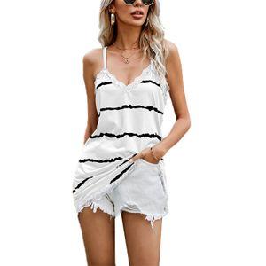 Damen Sommer Mode Kleid y V-Ausschnitt T-Shirt,Farbe: Weiß,Größe:M