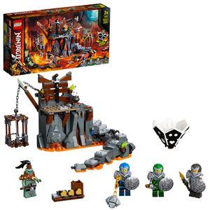 LEGO 71717 NINJAGO Reise zu den Totenkopfverliesen, 2-in-1 Bauset und Brettspiel