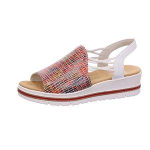 Rieker Sandalette  Größe 38, Farbe: rot-multi/weiss