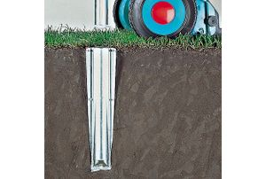 Brabantia 45mm Ground Spike, Grau, Metall, 110 mm, 90 mm, 415 mm