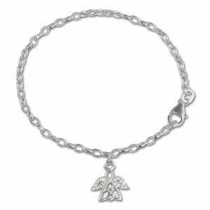 SilberDream Kinder-Armband 16cm glitzer weiß Engel 925er Silber SDA029W