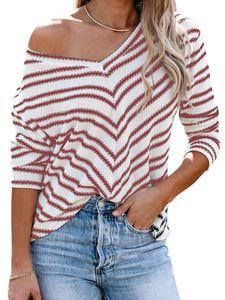 Damen Pullover Pulli Strickpullover Langarm Sweatshirt Casual Warm Sweater Tops,Farbe: Rotwein,Größe:XL