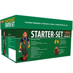 Schnittschutz Set WOODSafe® mit Schnittschutzhose Klasse 1, kwf , Forsthelm, Gehörschutz, Klappvisier, rutschhemmende Handschuhe - Größe 54