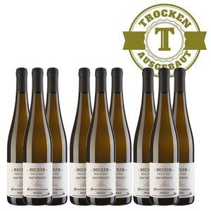Weißwein Rheinhessen Gewürztraminer Weingut Becker Hüttberg trocken ( 9 x 0,75)