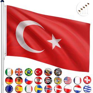 FLAGMASTER® Aluminium Fahnenmast Türkei 6,50m