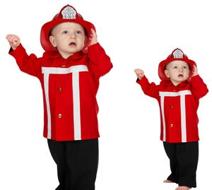 Wilbers Feuerwehrmann Kostüm rot 86 - 98 cm - Babykostüm 92 cm