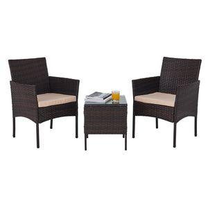 Crenex 3 tlg. Gartenmöbel Sets Rattanmöbel Gartenmöbel Gartenset Set Möbel Lounge Set Sitzgruppe