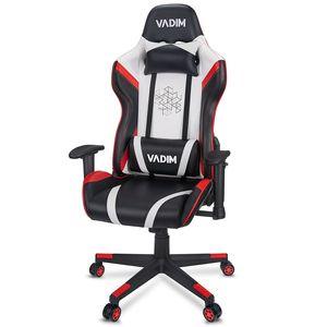Bürostuhl Chefsessel Racing Gaming Stuhl Drehstuhl Schreibtischstuhl, mit Neigungsfunktion und Schaukelfunktion, ohne Fußstütze