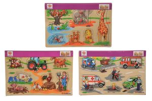 Eichhorn 100005451 Steckpuzzle, 3-fach sortiert