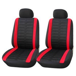 Autositzbezüge Vordersitze   Upgrade4cars Autositzschoner Set in Schwarz Rot für Vorne   Autositzbezug Universal Komplettset   Auto-Zubehör
