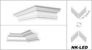 Vorgeschnittene Ecken NK-LED - Innen- & Außenecken für Hexim LED Profile aus PU, Typ:NK-LED-13