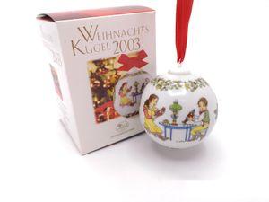 Porzellankugel Weihnachtskugel 2003 - Hutschenreuther - in