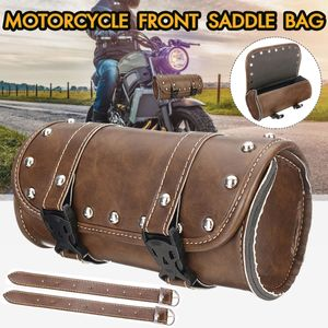 Retro Motorrad Satteltasche Werkzeugrolle Gepäckrolle Chopper PolyurethanWasserdicht