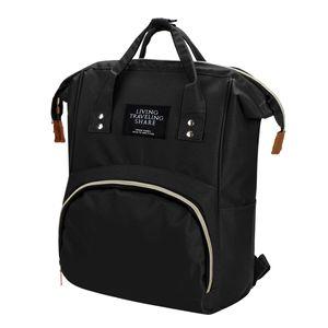 Sunnyme Baby Wickeltasche Rucksack, Wickelrucksack lässige Wickeltaschen, Multifunktional Große Kapazität Babytasche Reiserucksack (schwarz)