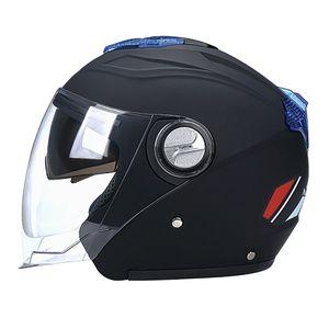 1 Stück Unisex-Schutzhelm Schwarz Mode 56-62 cm Offenes Gesicht