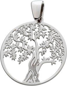Lebensbaum Anhänger Sterling Silber 925  Damen Kinder Schmuck
