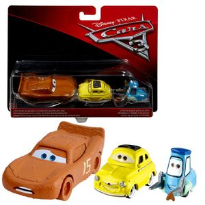 Doppelpack Modelle Auswahl | Disney Cars 3 | Cast 1:55 Fahrzeuge Auto | Mattel, Typ:McQueen Whipplefilter & Luigi & Guido