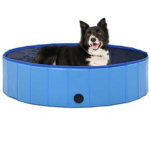 Mllaid Hundepool Faltbar Blau 120 x 30 cm PVC