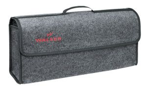 große Kofferraum Auto KFZ Tasche XXL grau mit Klettverschluss+Druckknöpfen 57x21x16 cm, Werkzeugtasche, Auto Organizer