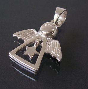 Anhänger Kette Engel 925 Silber Kettenanhänger 3cm Schutzengel 23330