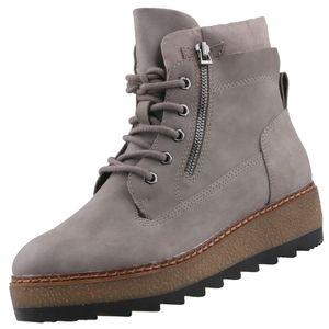 TAMARIS Damen Plateau-Stiefelette Grau, Schuhgröße:EUR 39