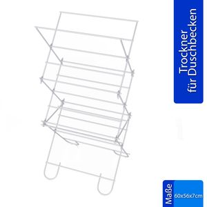 Wäscheständer Trockner für Duschbecken 60x56 Balkon Garten Klein Standtrockner