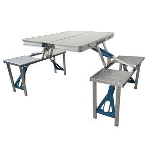 SVITA Camping Set Sitzgarnitur Tisch + Hocker Kofferfunktion mit Tragegriffen