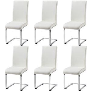 Yaheetech  Esszimmerstühle 6er Set Wohnzimmerstuhl Küchenstuhl Schwingstuhl Freischwinger