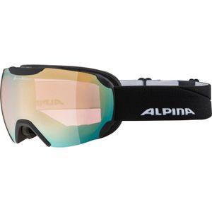 Alpina Erwachsene Skibrille PHEOS QuattroflexVarioflex Mirror sph. schwarz