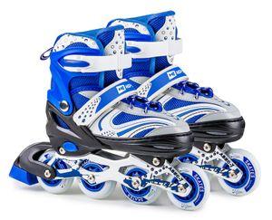 Hop-Sport Inliner 3 in 1 Größe: S (30-33) und Dreirad Weiß-Blau