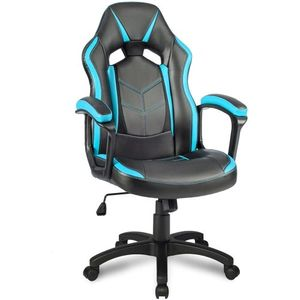 Racing  Bürostuhl Atmungsaktiv Chefsessel Racing Stuhl Schreibtischstuhl Drehstuhl, Blau