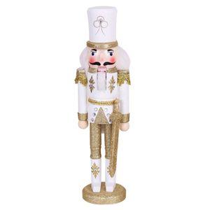 Weihnachten Nussknacker Ornamente, 30cm große hölzerne Nussknacker König Figuren Marionette, Ornament Figuren für Weihnachtsgeschenke -Gold