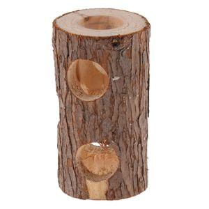 Wooden / Bamboo Adventure Tunnel Spielzeug Mit Gucklöchern Für Mäuse, Rennmäuse Hamster Farbe 3