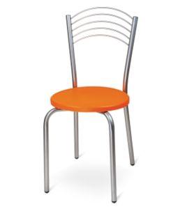 Menge von 6 stapelbaren Stühlen 40x40x45 / 87h cm Orange7