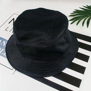Fischerhut Faltbar, Sonnenhut aus 100% Baumwolle, Anglerhut Fischermütze Cap Schwarz Sommersonnenhut Solide 56-58 cm Eimer Hut