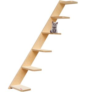 Elmato 13024 Katzentreppe Stufentreppe Leiter mit 6 Sprossen rechts