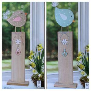 Deko Küken aus Holz Ostern  Kinderzimmer Garten  Figuren Terasse Fensterbänke, Farbe:Rosa